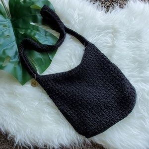 Unbranded Women's Black Crochet Knit Purse